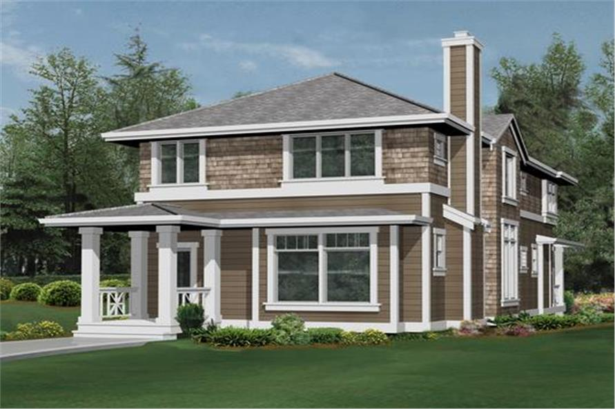 Home Plan Rear Elevation of this 3-Bedroom,2830 Sq Ft Plan -115-1330