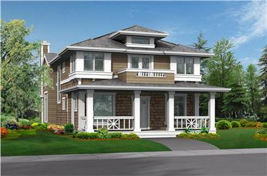 3-Bedroom, 2830 Sq Ft Shingle Home Plan - 115-1330 - Main Exterior