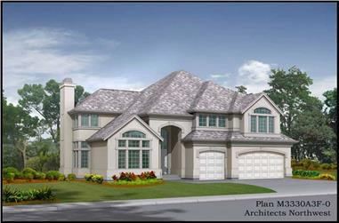 4-Bedroom, 3330 Sq Ft Contemporary Home Plan - 115-1332 - Main Exterior