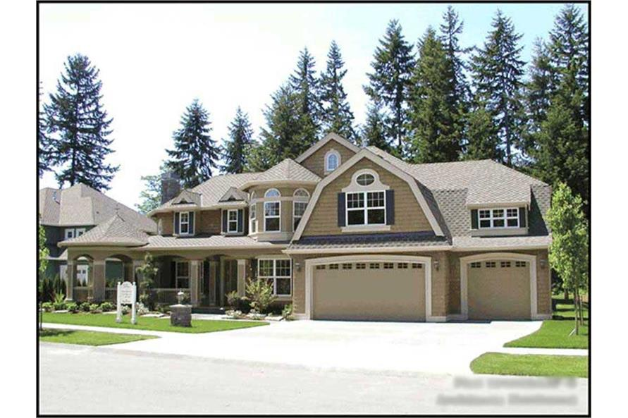 4-Bedroom, 4030 Sq Ft Luxury House Plan - 115-1333 - Front Exterior