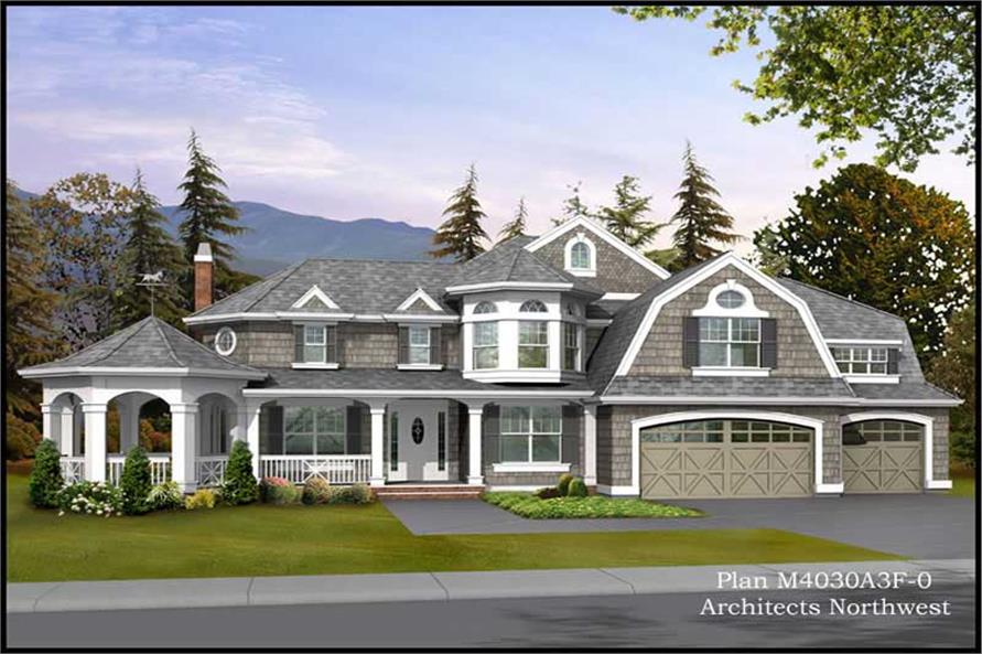 Home Plan Rendering of this 4-Bedroom,4030 Sq Ft Plan -115-1333