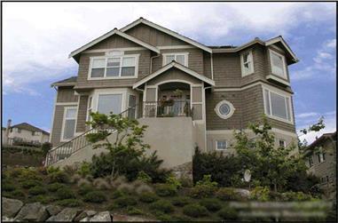 4-Bedroom, 4423 Sq Ft Multi-Level Home Plan - 115-1335 - Main Exterior