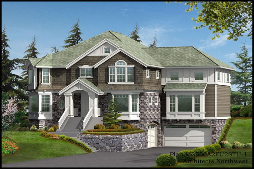 Home Plan Rendering of this 4-Bedroom,4423 Sq Ft Plan -115-1335
