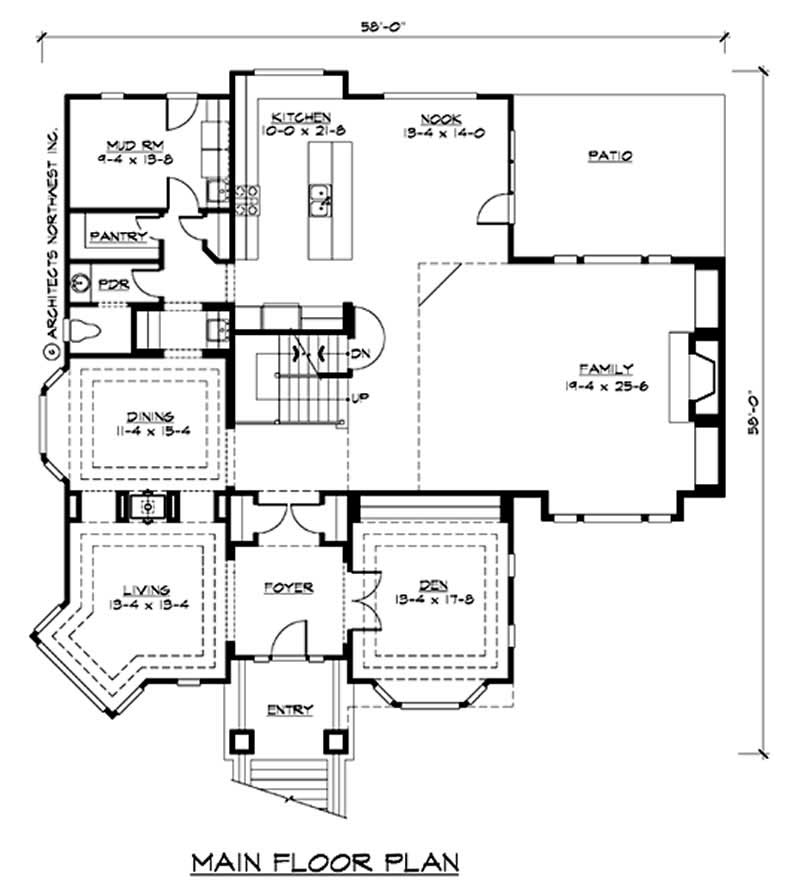 Multi level house plan 4 bedrms 3 baths 4423 sq ft for Multi level house plans