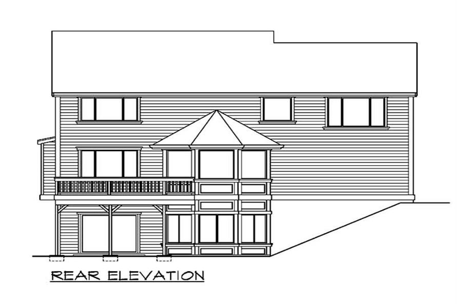 Home Plan Rear Elevation of this 1-Bedroom,3669 Sq Ft Plan -115-1337