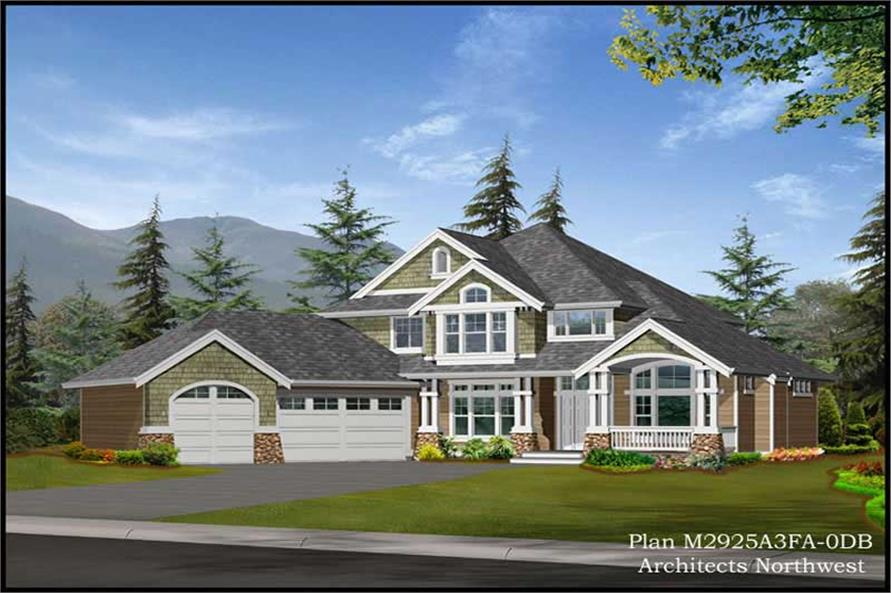 Home Plan Rendering of this 4-Bedroom,2925 Sq Ft Plan -115-1338