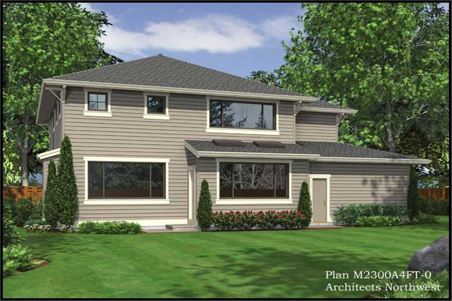 Home Plan Rear Elevation of this 3-Bedroom,2300 Sq Ft Plan -115-1339