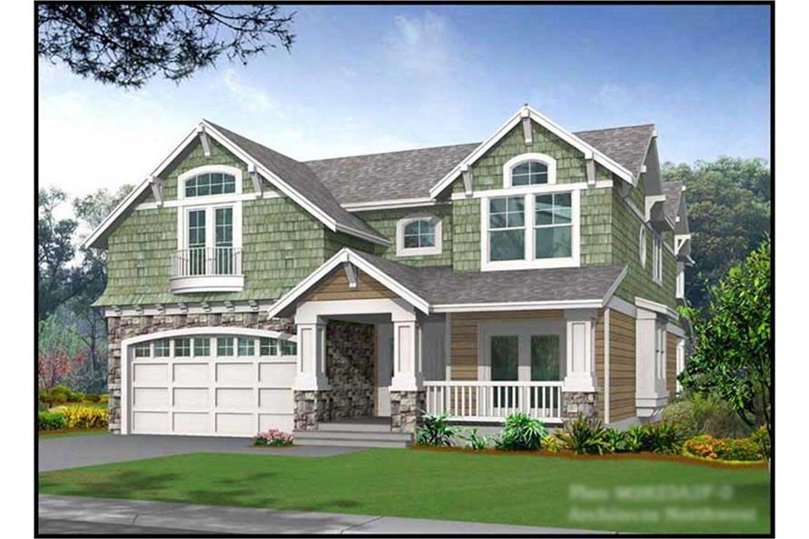 3-Bedroom, 2823 Sq Ft Ranch Home Plan - 115-1342 - Main Exterior