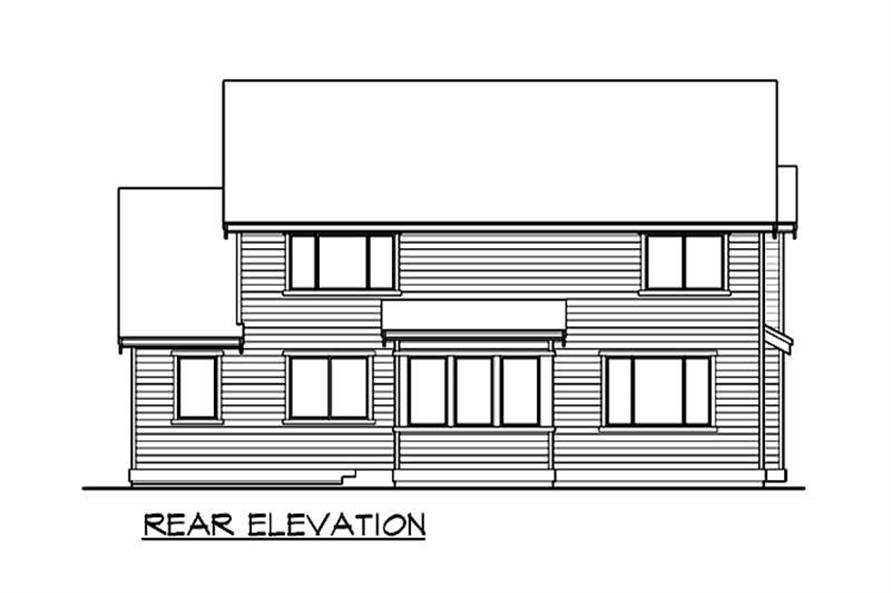 Home Plan Rear Elevation of this 3-Bedroom,3035 Sq Ft Plan -115-1343