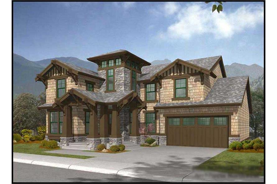 4-Bedroom, 3580 Sq Ft Country Home Plan - 115-1344 - Main Exterior