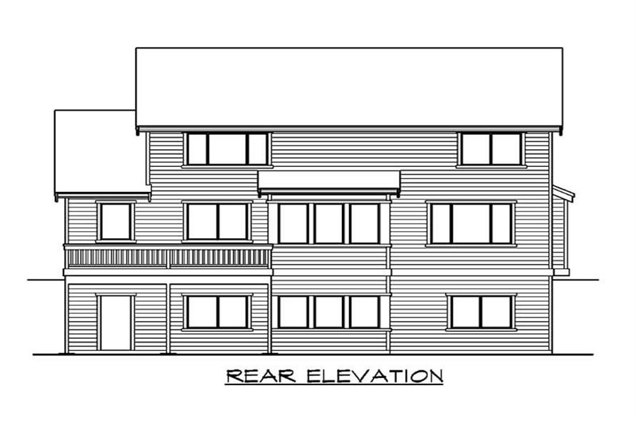 Home Plan Rear Elevation of this 4-Bedroom,3580 Sq Ft Plan -115-1344