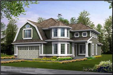 3-Bedroom, 4369 Sq Ft Ranch House Plan - 115-1345 - Front Exterior