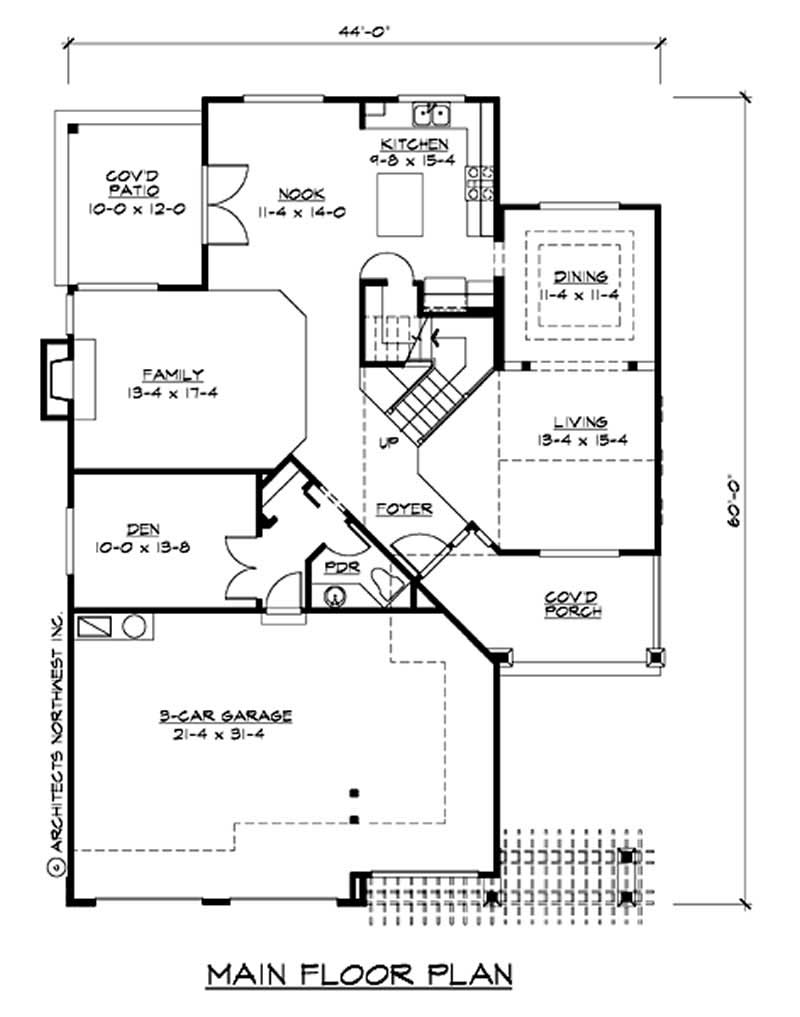 Traditional multi level house plans home design cd m2765a3f 0 14788 for Multi level floor plans