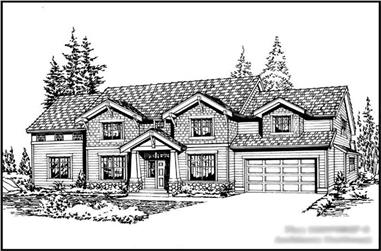 3-Bedroom, 2870 Sq Ft Colonial Home Plan - 115-1351 - Main Exterior