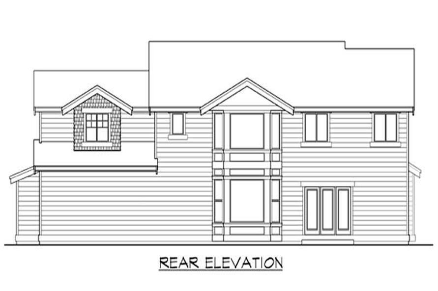 Home Plan Rear Elevation of this 3-Bedroom,2870 Sq Ft Plan -115-1351