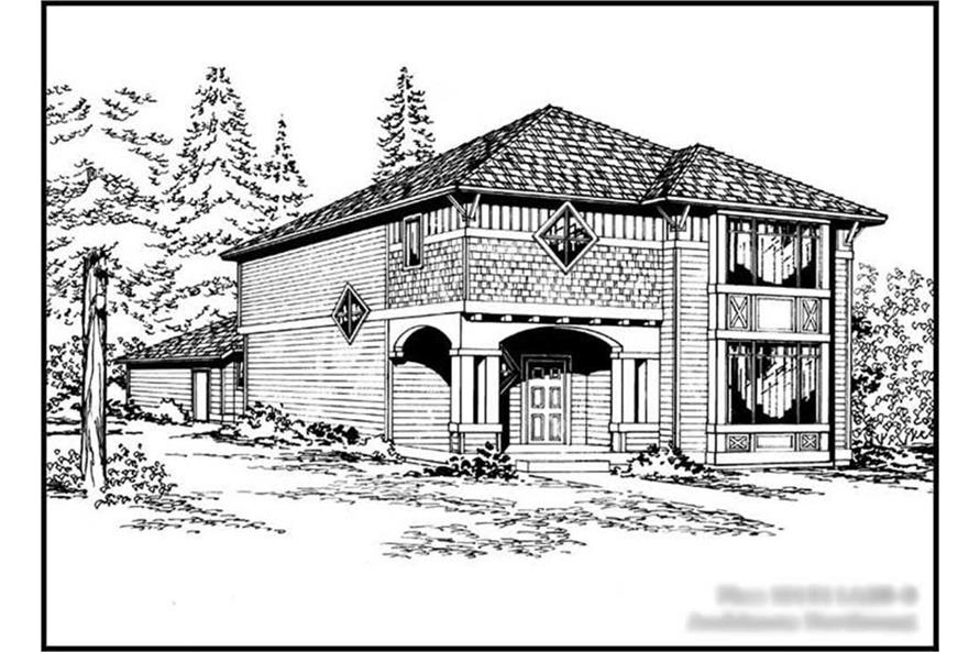 3-Bedroom, 1511 Sq Ft Craftsman House Plan - 115-1352 - Front Exterior