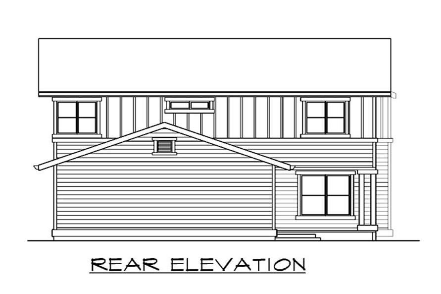 Home Plan Rear Elevation of this 4-Bedroom,1772 Sq Ft Plan -115-1354