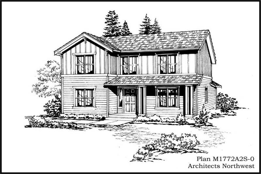 4-Bedroom, 1772 Sq Ft Multi-Level House Plan - 115-1354 - Front Exterior