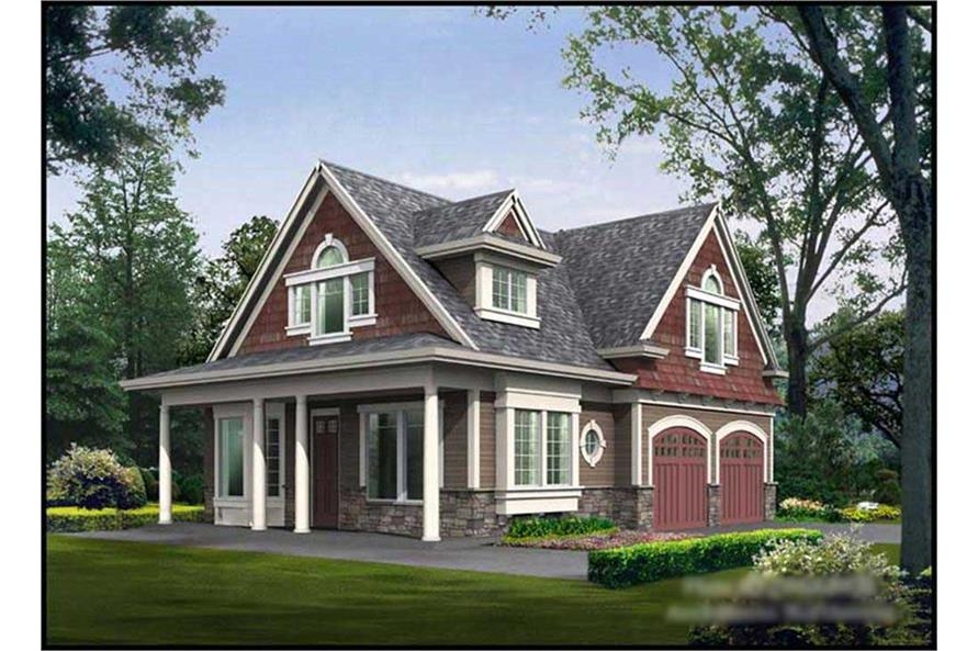 2-Bedroom, 1295 Sq Ft Ranch Home Plan - 115-1355 - Main Exterior