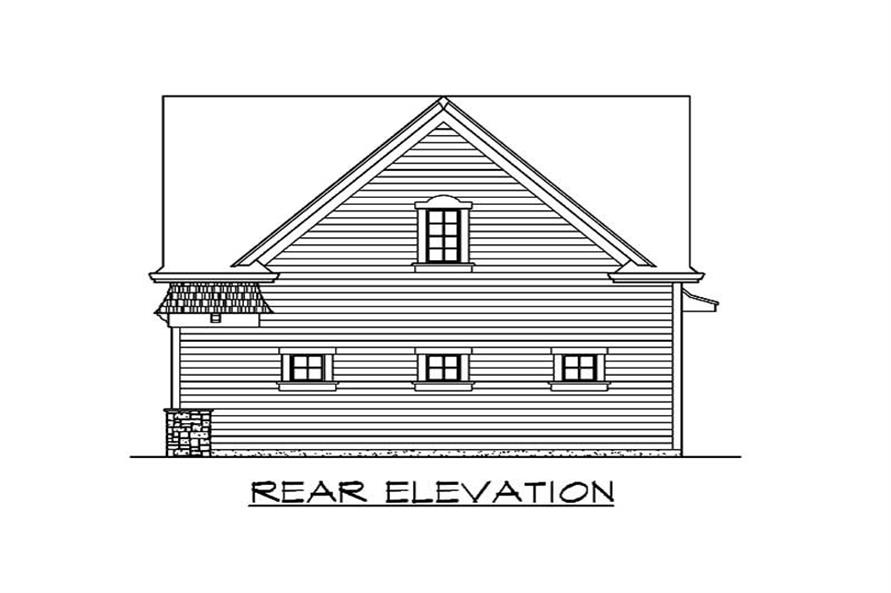 Home Plan Rear Elevation of this 2-Bedroom,1295 Sq Ft Plan -115-1355