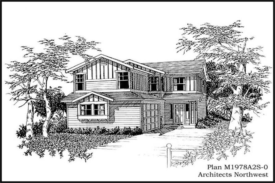 4-Bedroom, 1978 Sq Ft Multi-Level House Plan - 115-1356 - Front Exterior