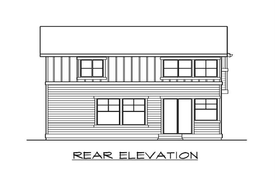 Home Plan Rear Elevation of this 4-Bedroom,1978 Sq Ft Plan -115-1356