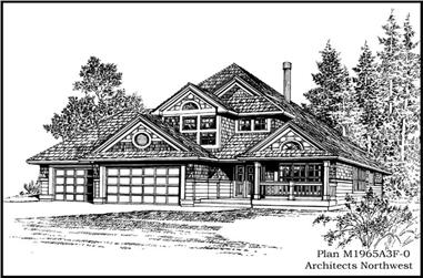 4-Bedroom, 1965 Sq Ft Country House Plan - 115-1357 - Front Exterior