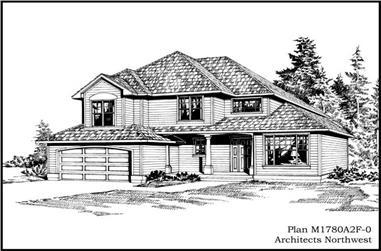 3-Bedroom, 1780 Sq Ft Craftsman House Plan - 115-1359 - Front Exterior