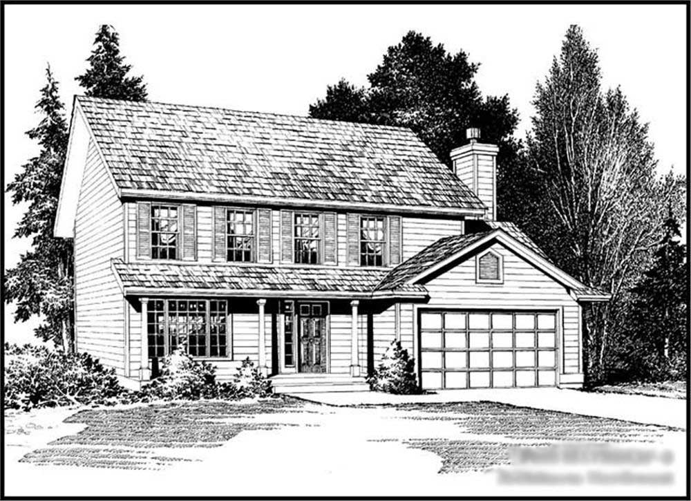 Traditional Colonial House Plans Home Design Cd