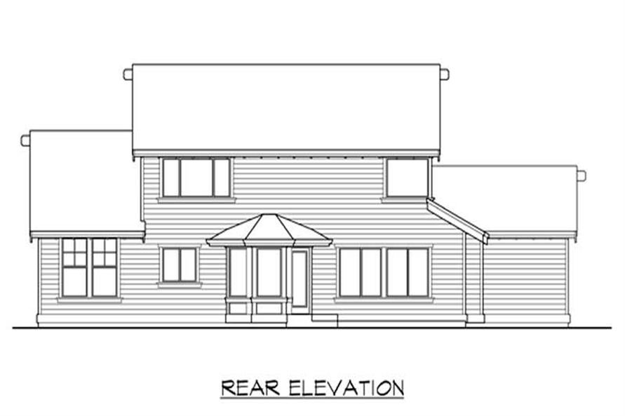 Home Plan Rear Elevation of this 3-Bedroom,2250 Sq Ft Plan -115-1363