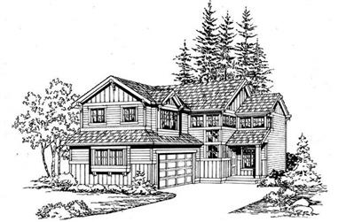 3-Bedroom, 1508 Sq Ft Traditional Home Plan - 115-1364 - Main Exterior