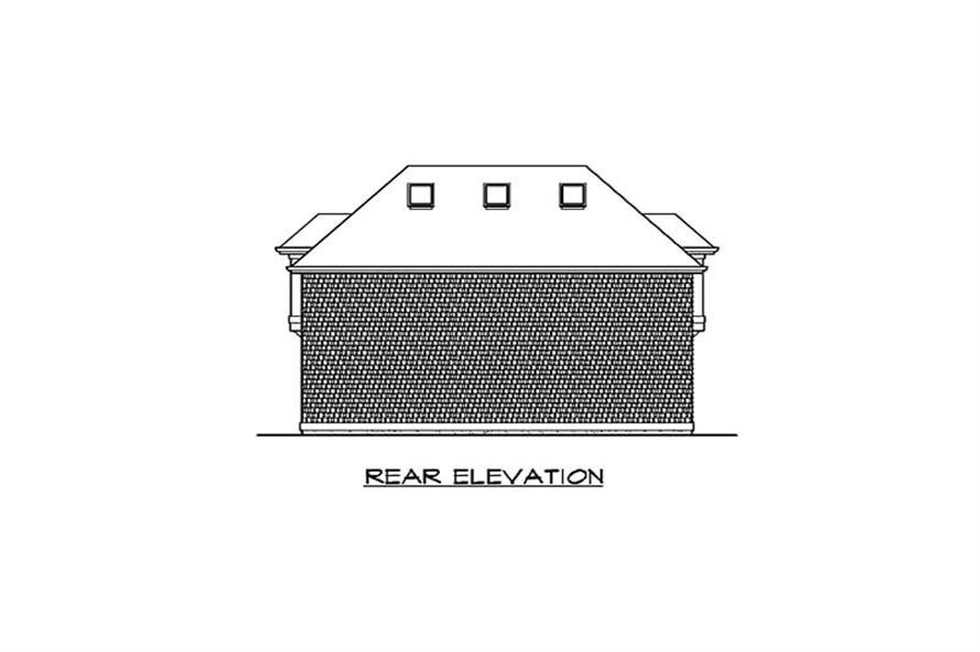 Home Plan Rear Elevation of this 1-Bedroom,755 Sq Ft Plan -115-1366