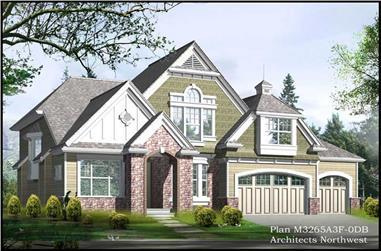3-Bedroom, 3265 Sq Ft Craftsman Home Plan - 115-1367 - Main Exterior