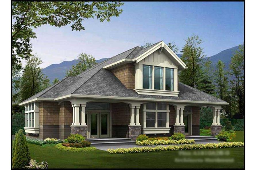 1-Bedroom, 585 Sq Ft Colonial Home Plan - 115-1369 - Main Exterior