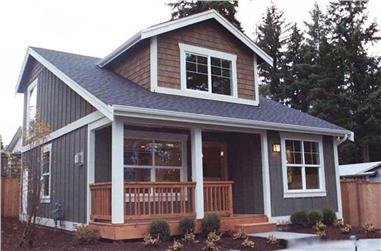 2-Bedroom, 1000 Sq Ft Bungalow Home Plan - 115-1370 - Main Exterior