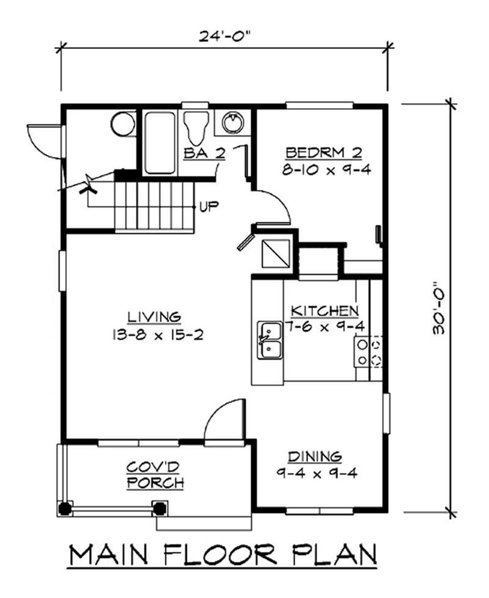 Ranch Home Plan 2 Bedrms 2 Baths 1000 Sq Ft 115 1371