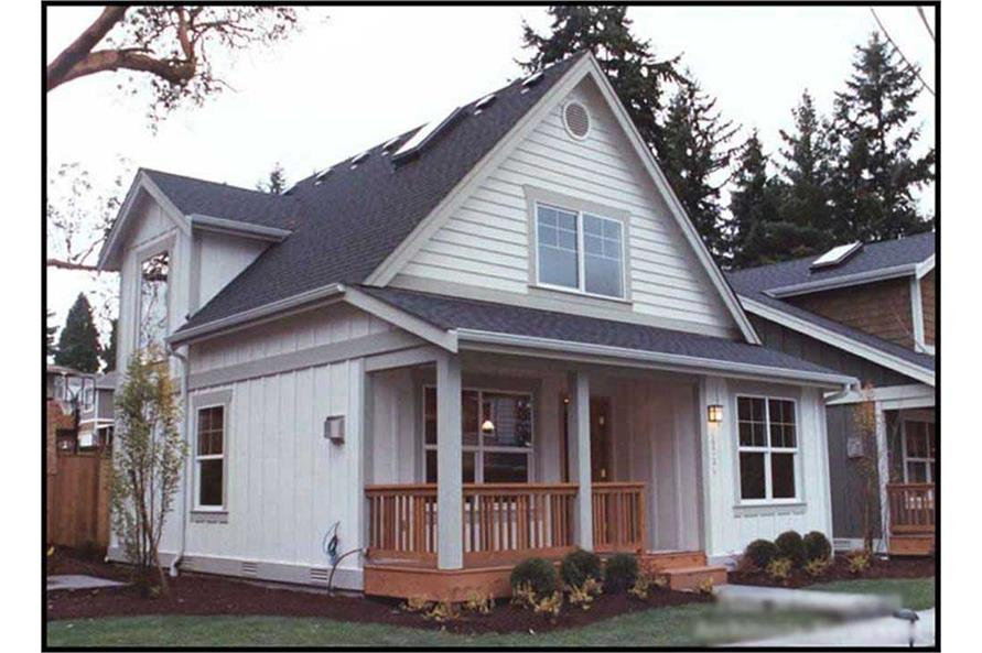 2-Bedroom, 1000 Sq Ft Bungalow Home Plan - 115-1371 - Main Exterior