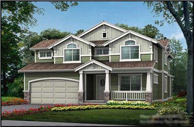 4-Bedroom, 2609 Sq Ft Multi-Level Home Plan - 115-1373 - Main Exterior