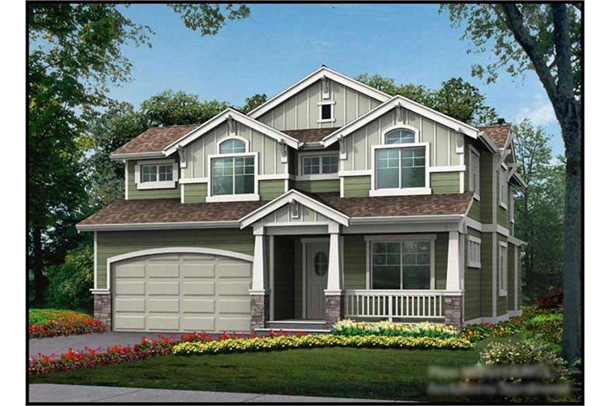4-Bedroom, 2609 Sq Ft Multi-Level Home Plan - 115-1373 - Main Exterior