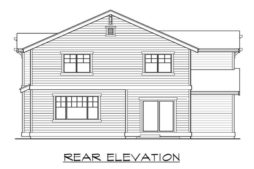 Home Plan Rear Elevation of this 4-Bedroom,2609 Sq Ft Plan -115-1373