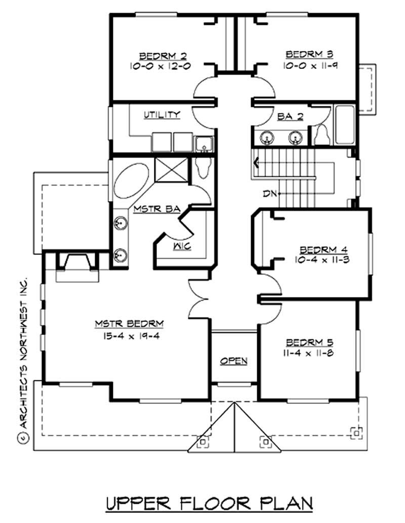 Traditional multi level house plans home design cd m2441a2f 1 14707 for Multi level floor plans