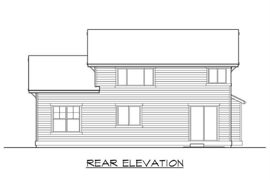 Home Plan Rear Elevation of this 3-Bedroom,2522 Sq Ft Plan -115-1374