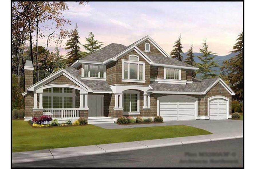 4-Bedroom, 3280 Sq Ft Ranch Home Plan - 115-1376 - Main Exterior