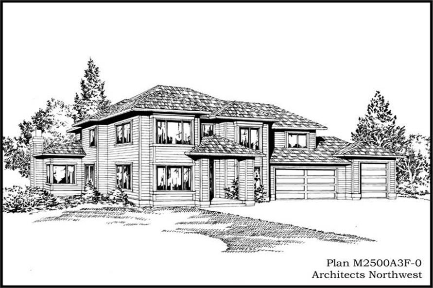 3-Bedroom, 2500 Sq Ft European Home Plan - 115-1377 - Main Exterior
