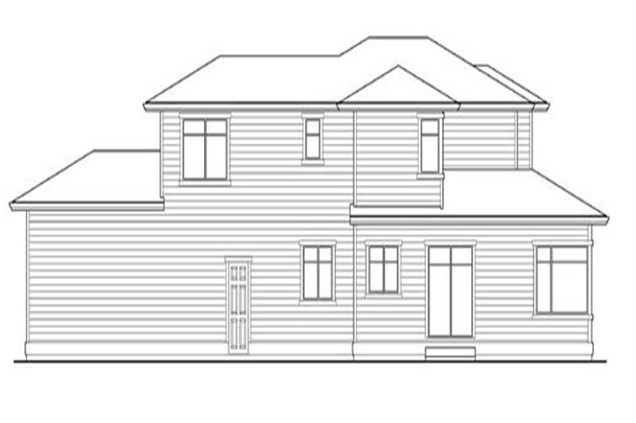 Home Plan Rear Elevation of this 3-Bedroom,2500 Sq Ft Plan -115-1377