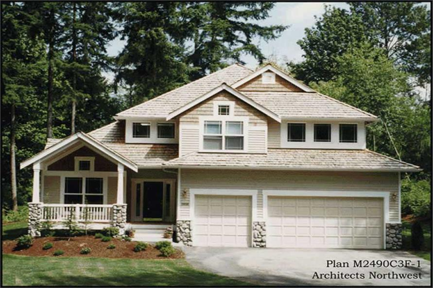Home Exterior Photograph of this 4-Bedroom,2516 Sq Ft Plan -115-1378