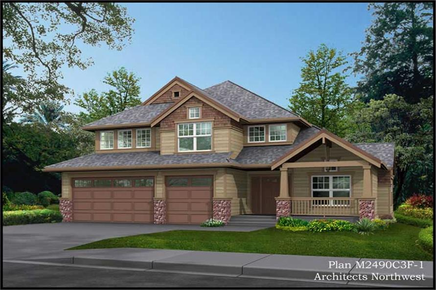 Home Plan Rendering of this 4-Bedroom,2516 Sq Ft Plan -115-1378