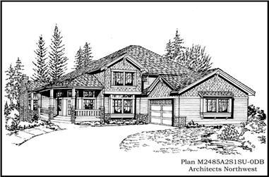 4-Bedroom, 3060 Sq Ft Ranch Home Plan - 115-1379 - Main Exterior
