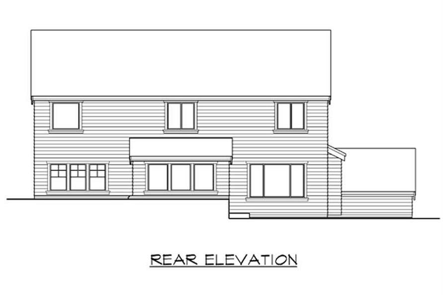 Home Plan Rear Elevation of this 4-Bedroom,2475 Sq Ft Plan -115-1380