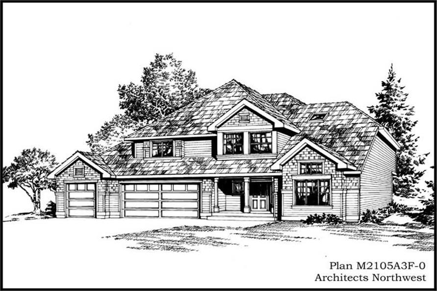 4-Bedroom, 2105 Sq Ft Ranch Home Plan - 115-1382 - Main Exterior
